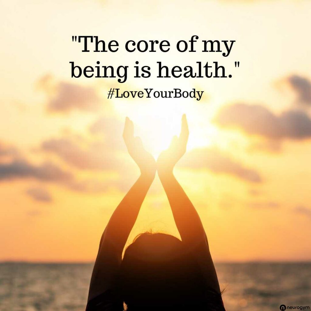 The Core of my being is health image